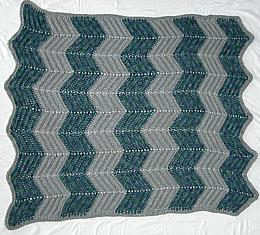 Grey and Green afghan